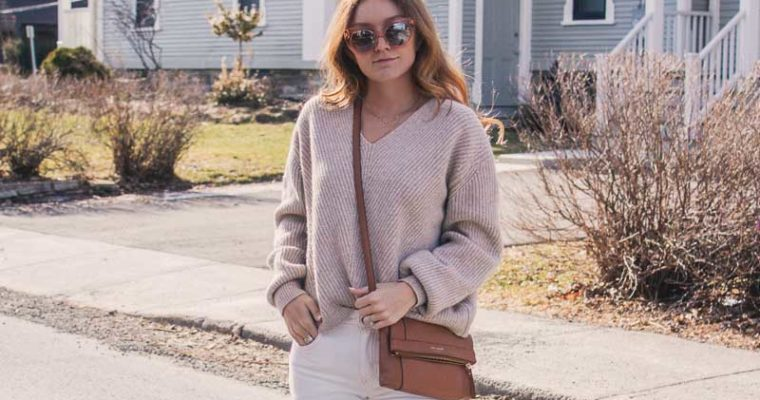 white jeans & tonal dressing for spring