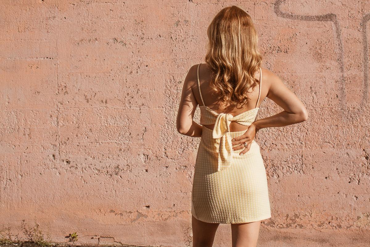 little yellow summer dresses