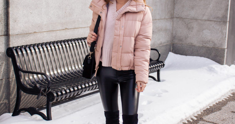 the best pink puffer jacket (currently on sale)!